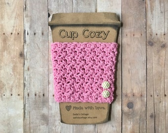 Cup Cozy, Coffee Sleeve, Coffee Cup Cozy, Cup Sleeve, Coffee Cup Holder, Coffee Cozy, Coffee Cup Sleeve, Breast Cancer Awareness, Reusable