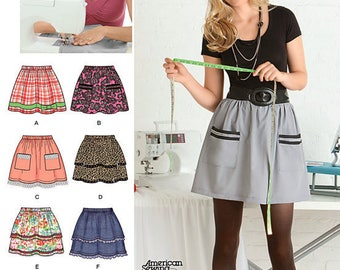 EASY SKIRT Sewing Pattern - Learn to Sew Skirts 2286 Plus Sizes 6-18