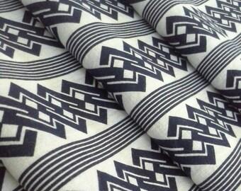 Indigo chain knot yukata cotton - by the yard