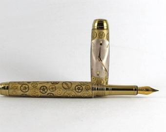 Queens Watchpart Fountain Pen - Steampunk Pen - Handcrafted - Unique