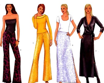 Easy slightly flared Pants and straight skirt sewing pattern Butterick 6769 Sz 12 to 16