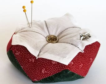 Tudor Rose Biscornu Pincushion