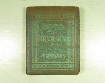 Uses of Great Men by Emerson - Vintage Little Leather Library Pocket Book