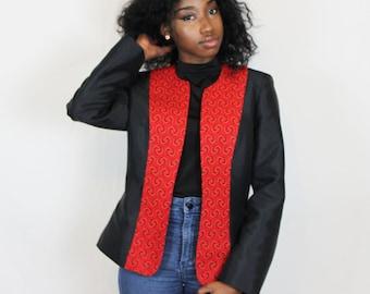Blazer - afro print (red)