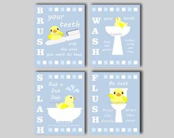 Marvelous Rubber Duck Bathroom, Kids Bathroom Art, Bathroom Wall Art, Kids Bathroom  Signs,