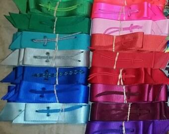 Krazy Kolorz Solid Color Saddle Cinch Strap Sets, includes latigo and  double ply off billet