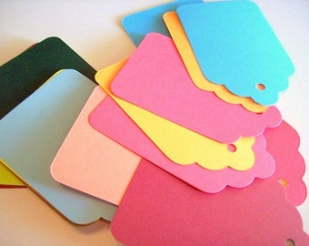 Tags, Gift Tags, Price Tags, Set of 50, Colored Tag, Wedding Favor