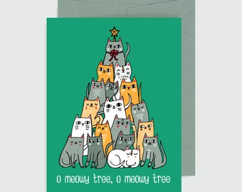 Holiday Card - Meowy Tree