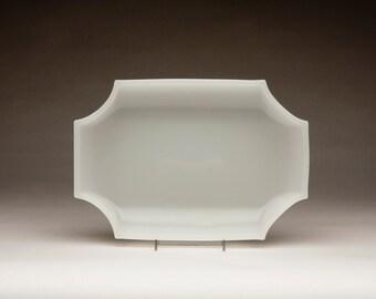 Fostoria #2596 Silver Mist Oblong Shallow Bowl