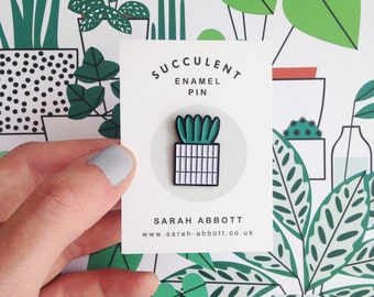 Succulent Enamel Pin