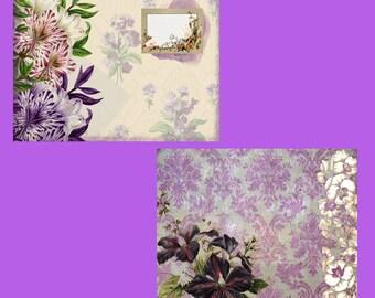 Pretty in Purple DIGITAL Junk Journal Kit