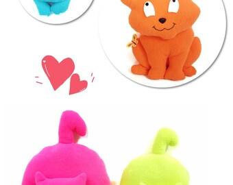 Cat Sewing Pattern / Sewing Patterns / Stuffed Cat Pattern / Toy Pattern / Soft Toy Patterns / Cat Pattern / Cat Plush Pattern / Plush Cat