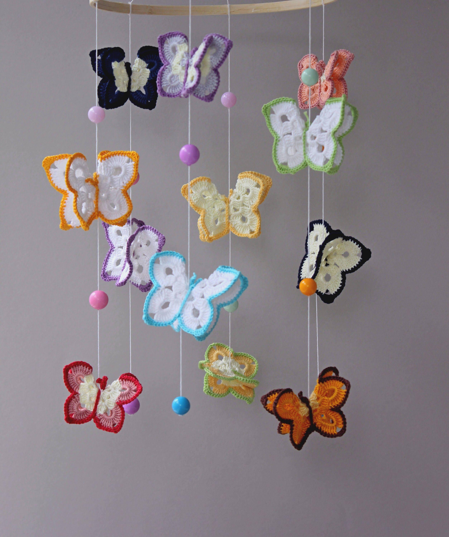 Schmetterling mobile Schmetterlinge mobile Krippe mobile Baby