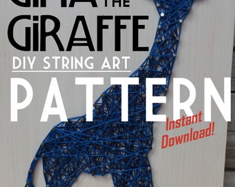 "String Art Pattern - Gina the Giraffe - 11"" x 6"""