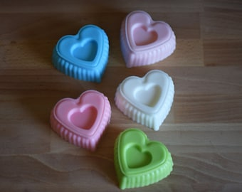 1 Large Heart Soap, Glycerin Soap, Soap, Soap Bar, Gift Under Ten Dollars, Gift for her, Heart, Bath and Body, Guest Soap