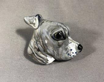 Pitbull Pitty Puppy Focal Lampwork Glass Bead