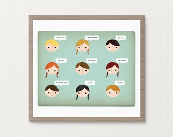 9 Ways to Say I Love You - 8 x 10 Archival Print