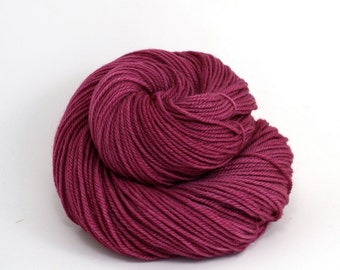 Zeta - Hand Dyed Polwarth Wool and Silk DK Sport Yarn - Colorway: Elderberry