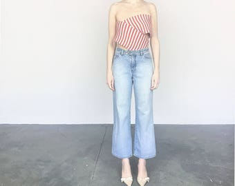 Light Wash Wide Leg Jeans (S)