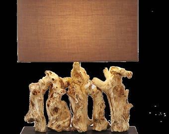 """Wood """"Aragon"""" Lamp"""