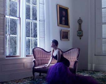 Waiting at the Window- Fine Art Victorian Gothic Mansion Meghan Walker Photography print