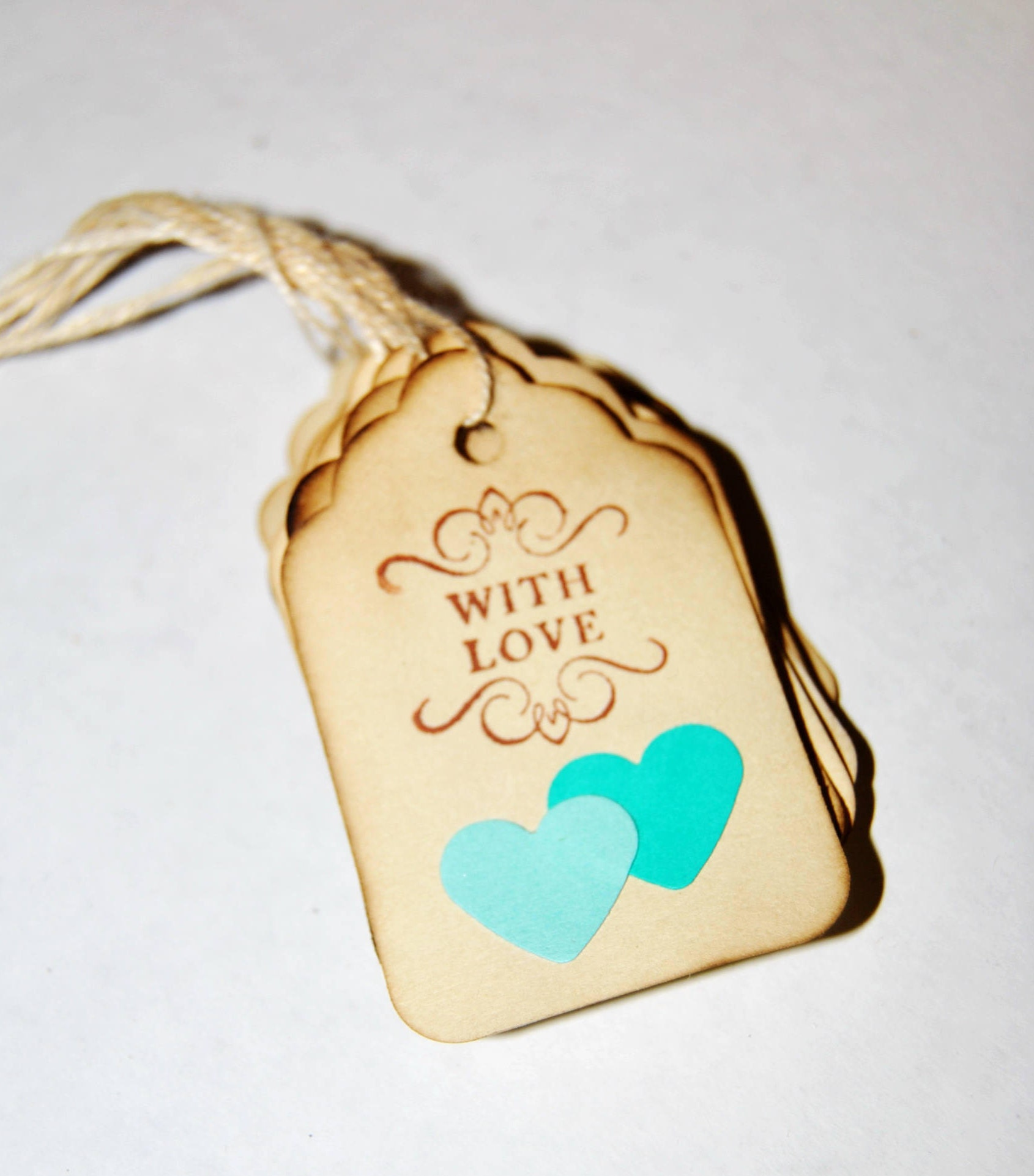 Wedding Favor Tags Two Hearts Become One Thank You Tags Coffee