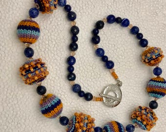 Knitted Bead Necklace