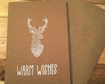 Double card 'Warm Wishes' A6 (10x15 cm) with envelop