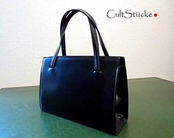 Vintage 60s Classic Handbag Black