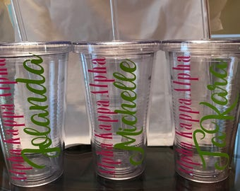 Pink and Green Tumbler