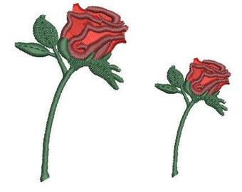NeedleUp - Single Stem Rose embroidery design