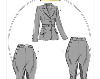 Butterick Pattern B6433 Misses' Banded Jacket, Jodphurs, and Breeches