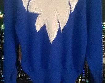 Blue Fuzzy Sweater