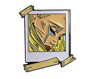Sad Girl  Enamel Pin