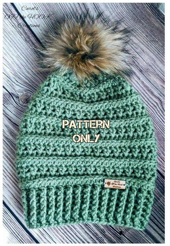 Crochet Hat Pattern Crochet Beanie Pattern Crochet Slouchy