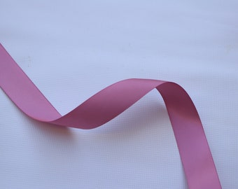 7/8 inch - Rosy Mauve satin ribbon - Dusty Pink Satin Ribbon - Satin ribbon  Mauve- Satin Ribbon Pink - Rosy Mauve Ribbon Satin