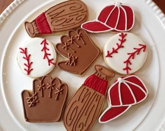 Baseball Cookies | Baseball Party | One Dozen
