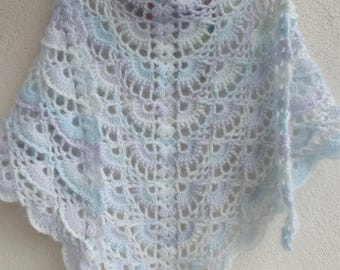 crochet shawl, crochet wrap shawl, handmade, accessories,crochet triangular shawl valentine's day gift for her for mom