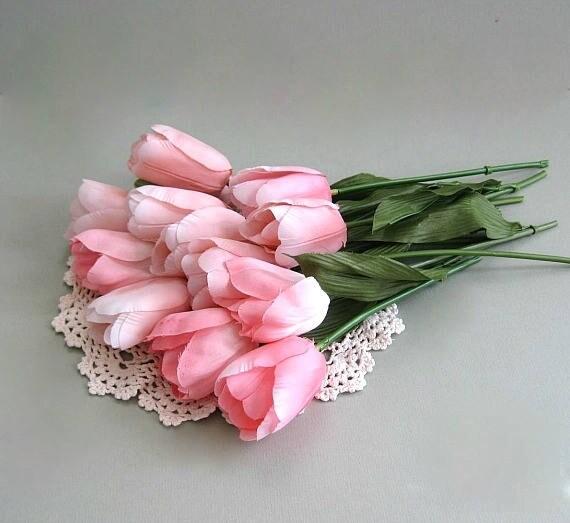Tulip flower 2 pink flowers artificial flower supplies silk flower get shipping estimate mightylinksfo