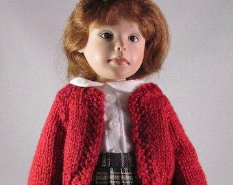 10 inch Doll, Willow's Way Dress, Red Pleated Outfit