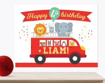 Firetruck backdrop Personalised, PRINTABLE Firetruck sign, Firetruck posters, Boys birthday backdrop, Fire engine banner, Boy Party backdrop