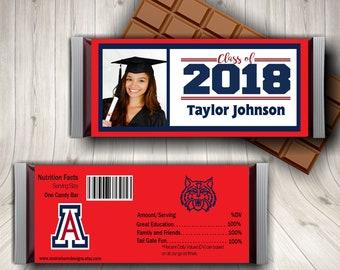Graduation Photo Candy Bar Wrapper, Graduation Wrapper, Graduation Favors, Graduation Party, Graduation Candy Labels, Printed or Digital