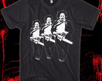 The Texas Chainsaw Massacre - Leatherface - Hand screened, pre-shrunk 100% cotton t-shirt