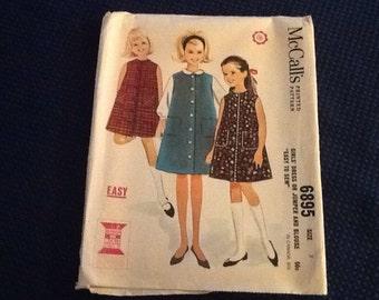 McCalls 6895 girls dress pattern