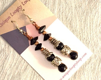 Black Copper Tune earrings