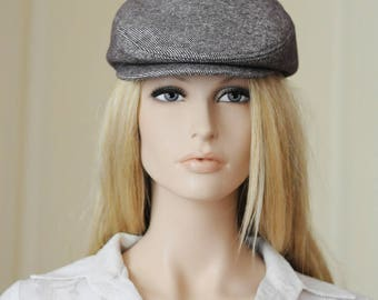 Mocha newsboy hat Womens newsboy cap Mens newsboy hat Wool hat taupe Flat cap Driver cap for men Derby hat men Newspaper boy hat Cabbie hat