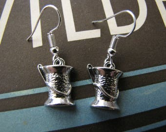Silver Needle & Thread Earrings