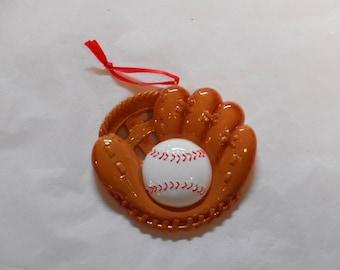 Baseball Glove Personalized Christmas Ornament