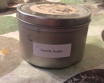 Vanilla Sugar 16 ounce Large Tin Soy Candle