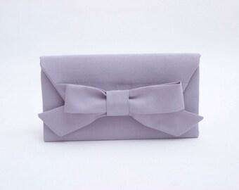 Big sale - Silver grey  clutch bridesmaid gift  envelop clutch wedding clutch,Evening bag- COLOR OPTION AVIABLE